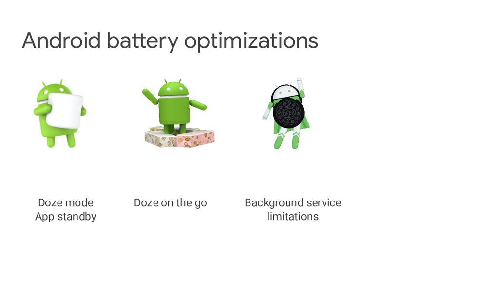 Android battery optimizations Doze mode App sta...