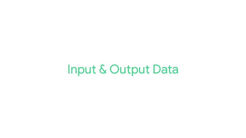Input & Output Data