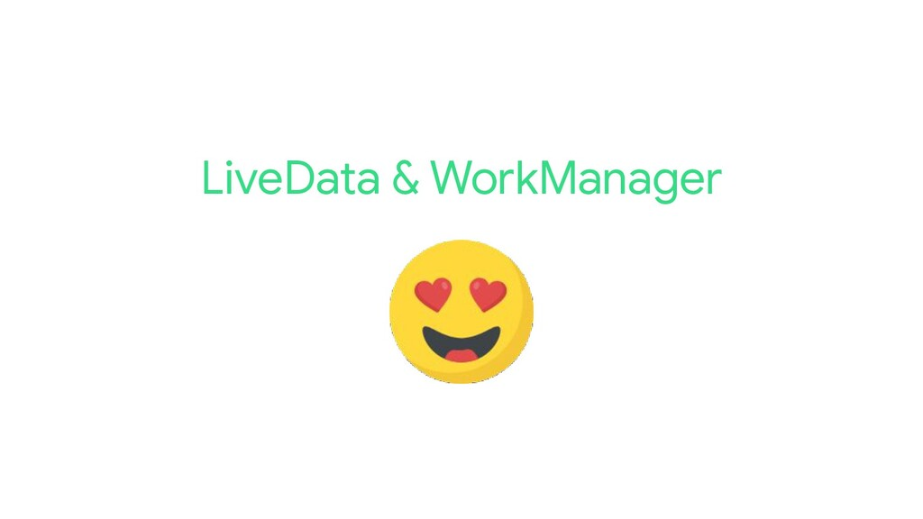 LiveData & WorkManager