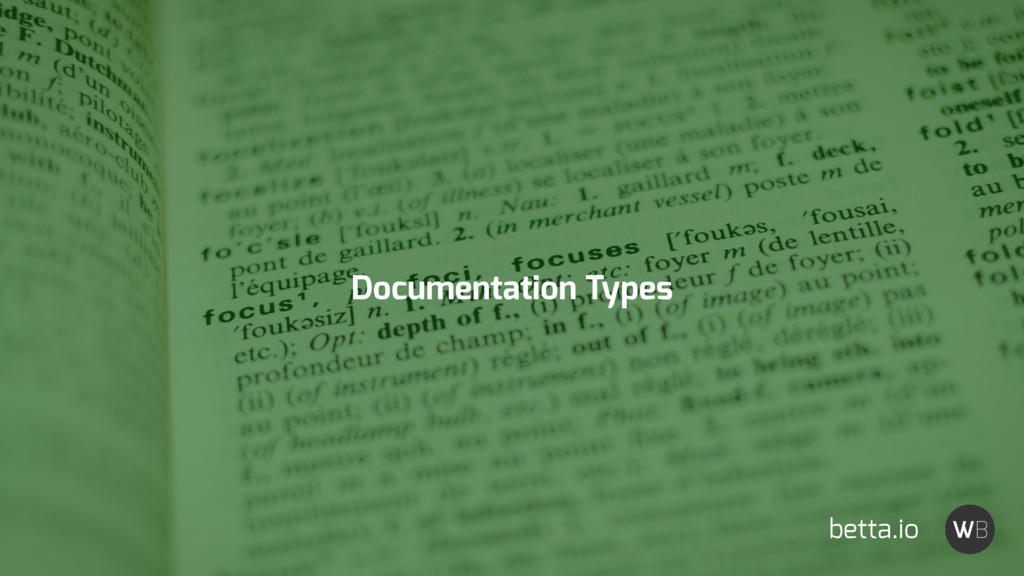 Documentation Types betta.io