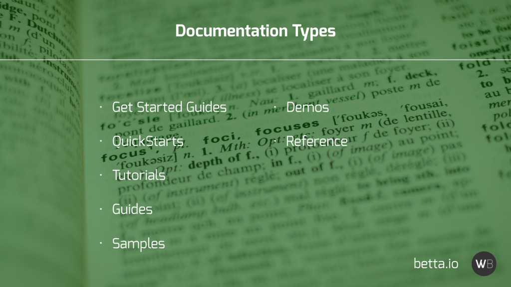 Documentation Types betta.io • Get Started Guid...