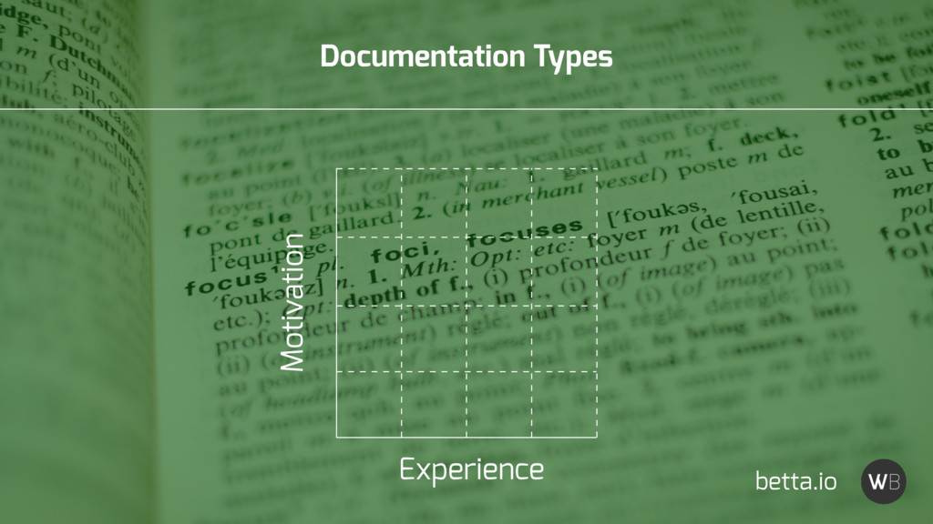 Documentation Types Experience Motivation betta...