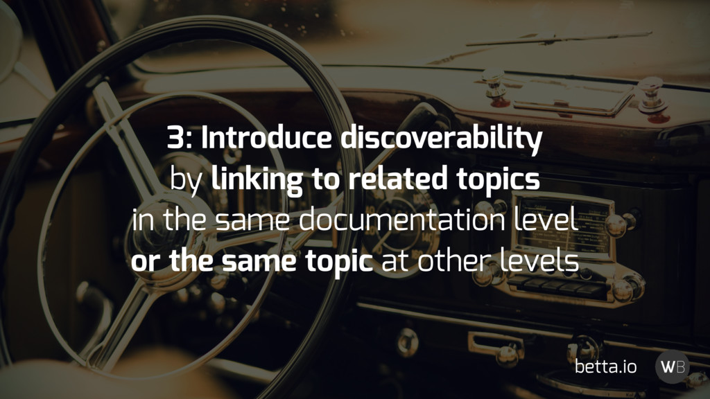 3: Introduce discoverability by linking to rela...