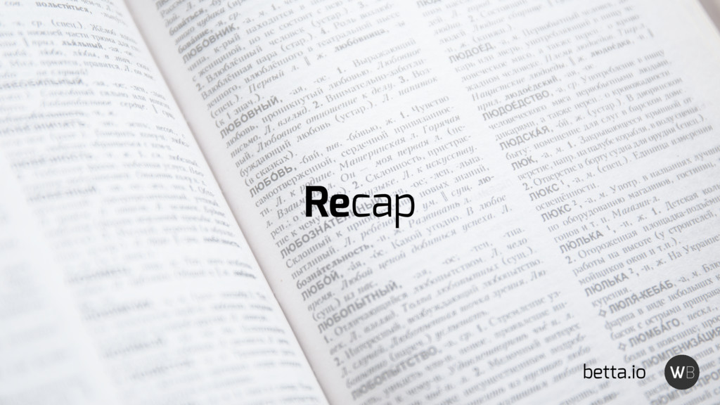 Recap betta.io