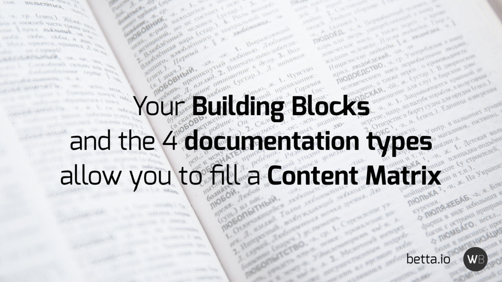 Your Building Blocks and the 4 documentation ty...