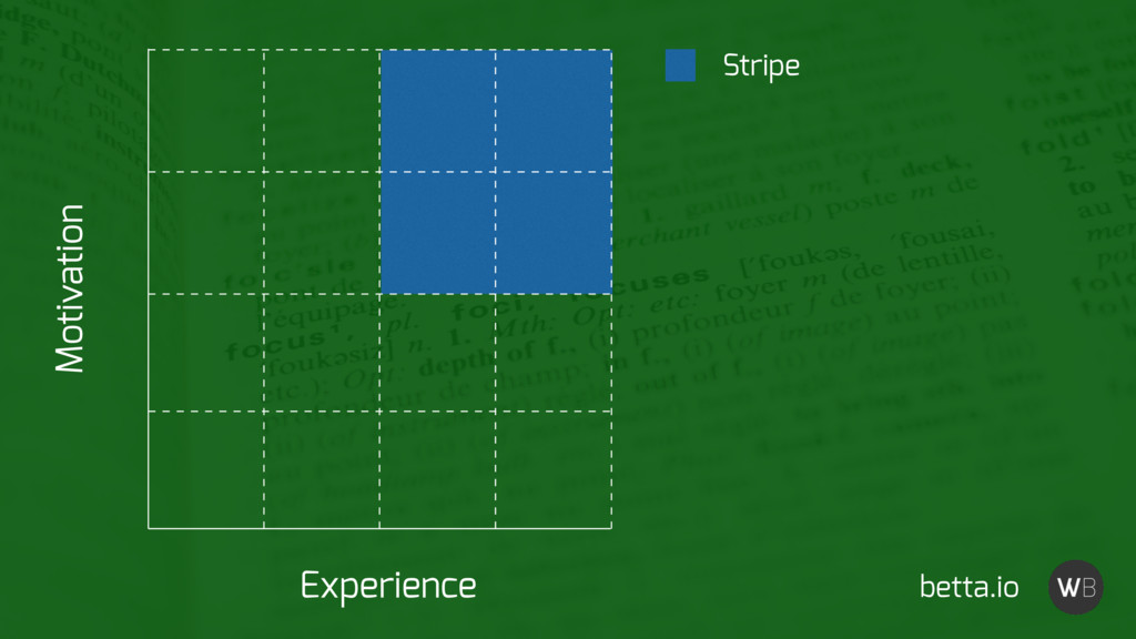Stripe Experience Motivation betta.io