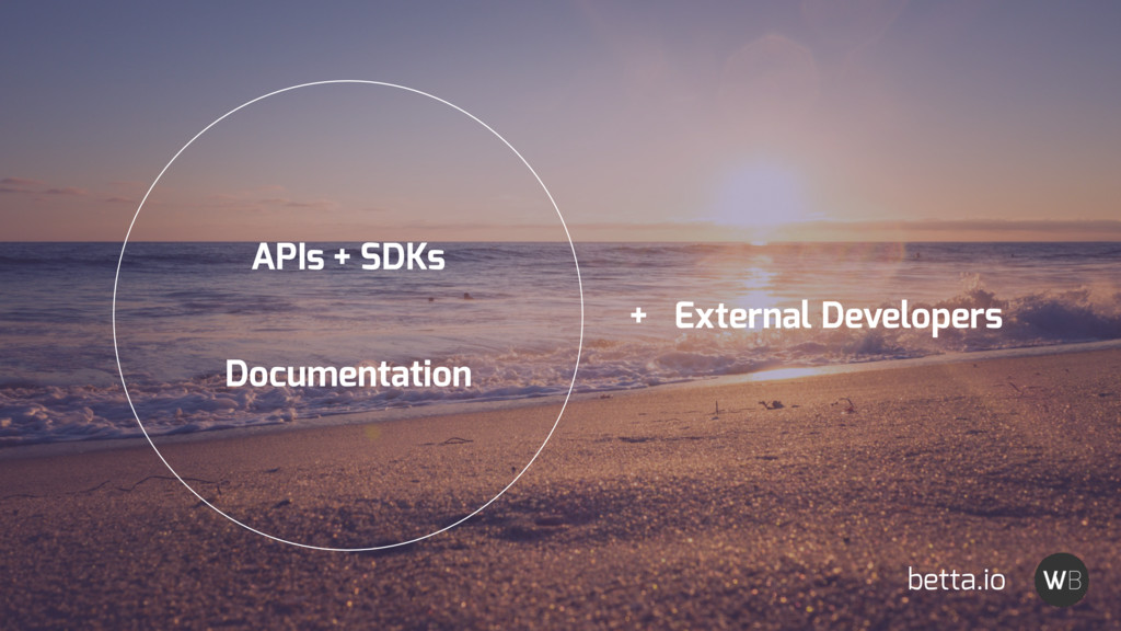APIs + SDKs Documentation + External Developers...