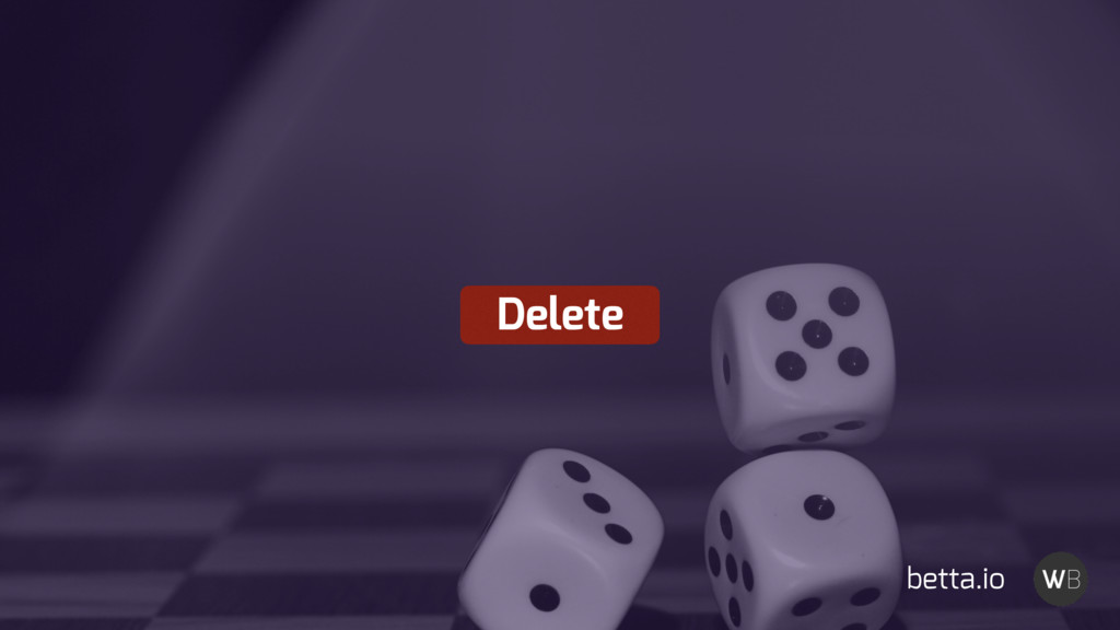 Delete betta.io
