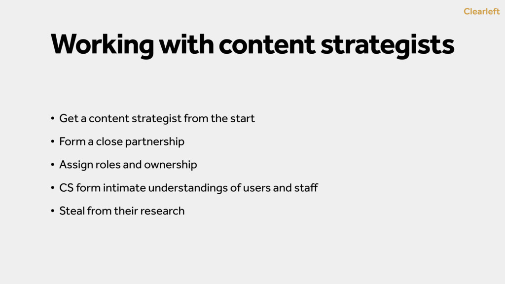 Clearleft Working with content strategists • Ge...