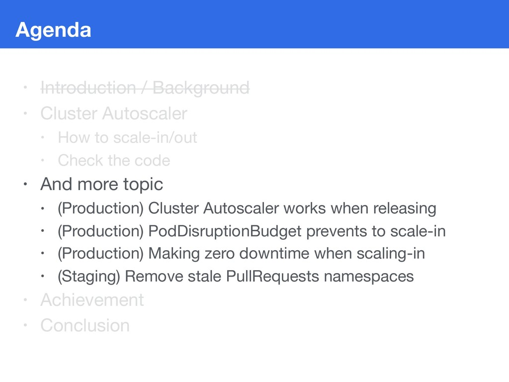 Agenda • Introduction / Background  • Cluster A...