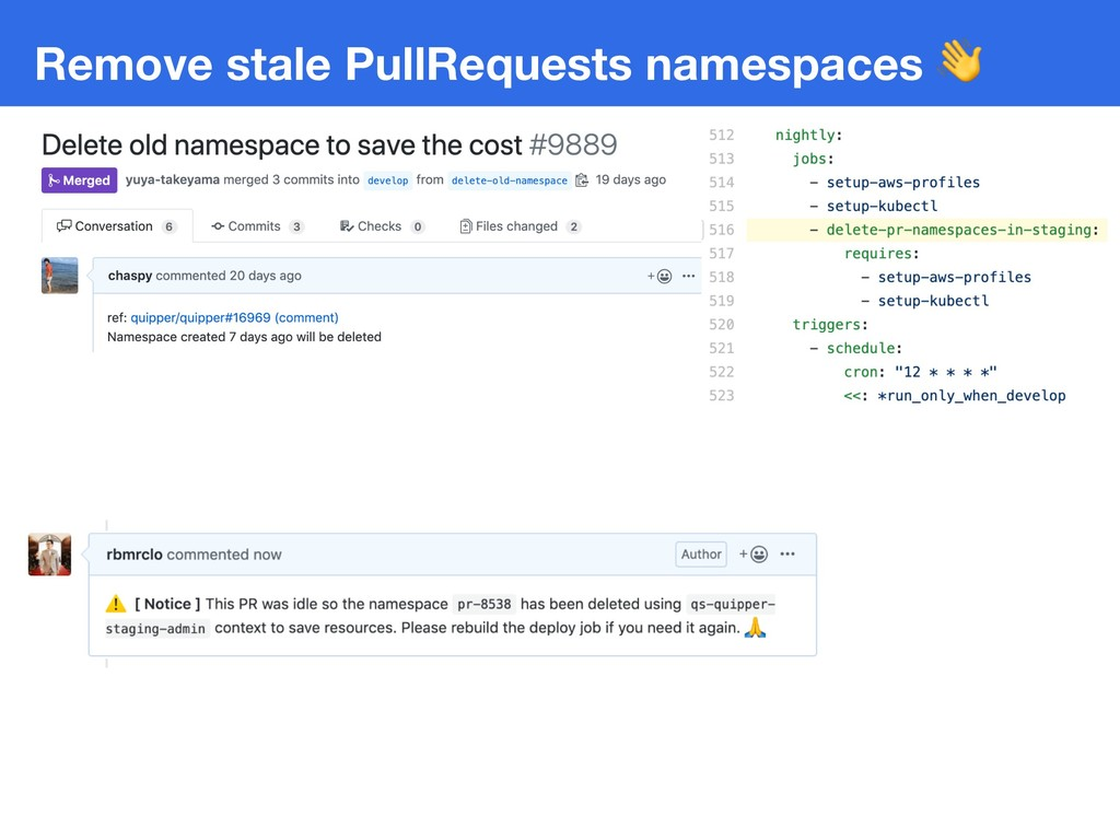 Remove stale PullRequests namespaces