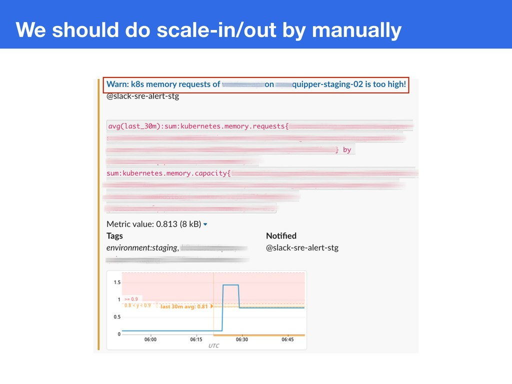 We should do scale-in/out by manually