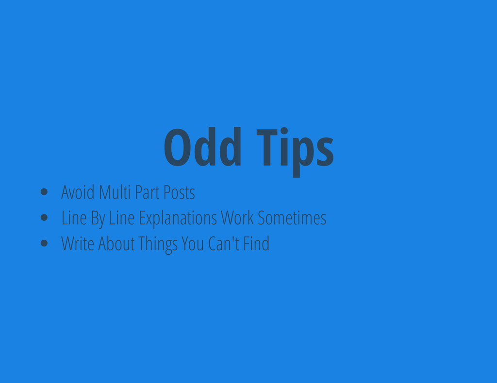 Odd Tips Avoid Multi Part Posts Line By Line Ex...