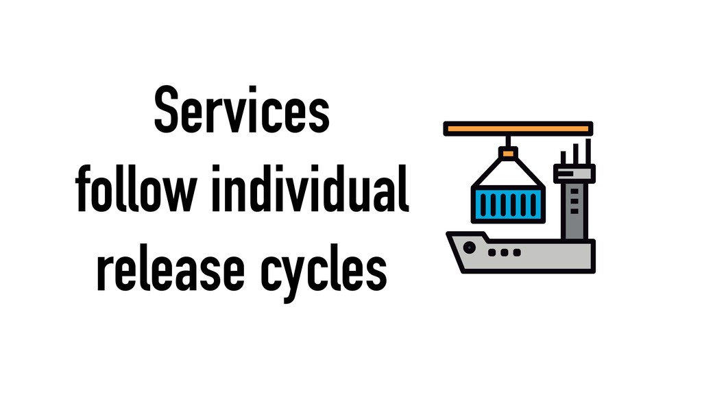 Services follow individual release cycles