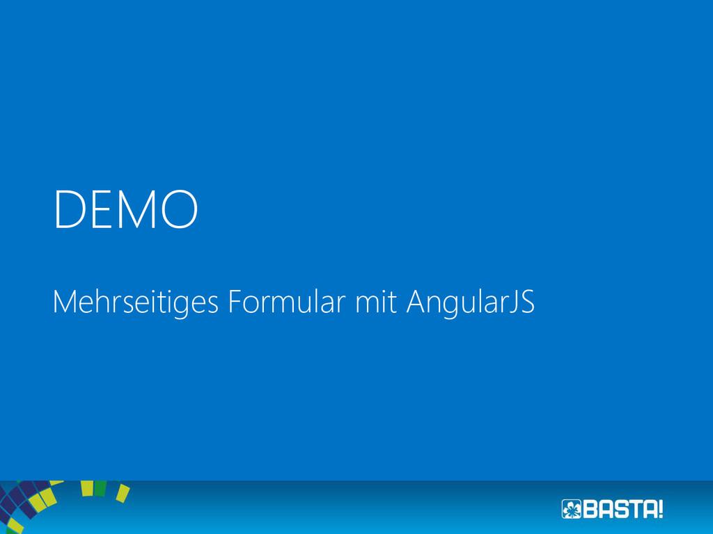 DEMO Mehrseitiges Formular mit AngularJS