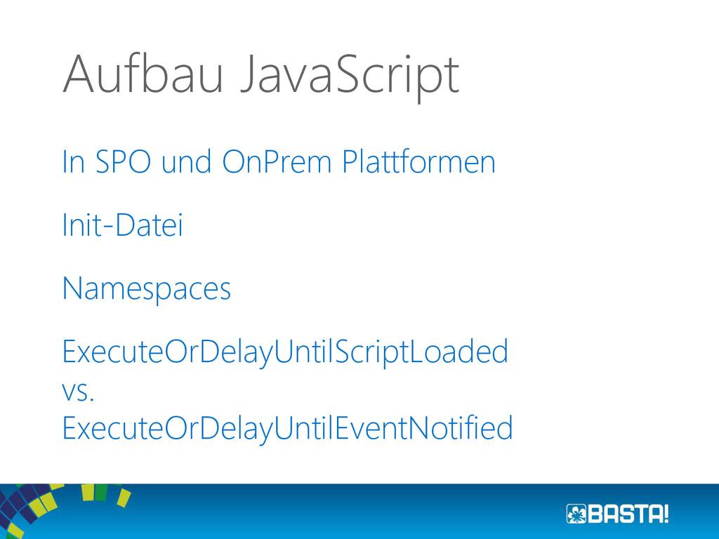 In SPO und OnPrem Plattformen Init-Datei Namesp...