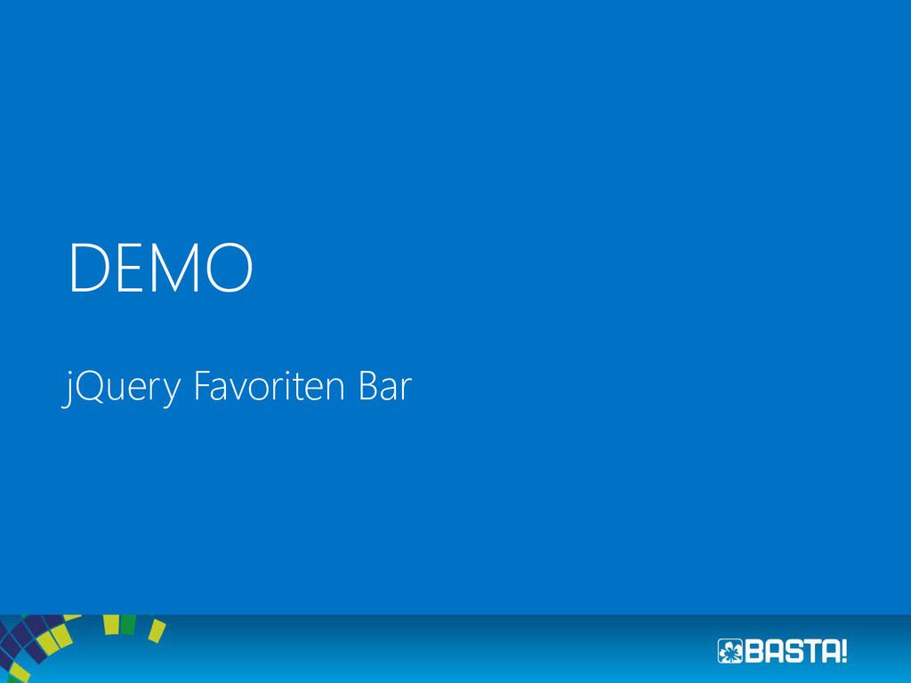 DEMO jQuery Favoriten Bar
