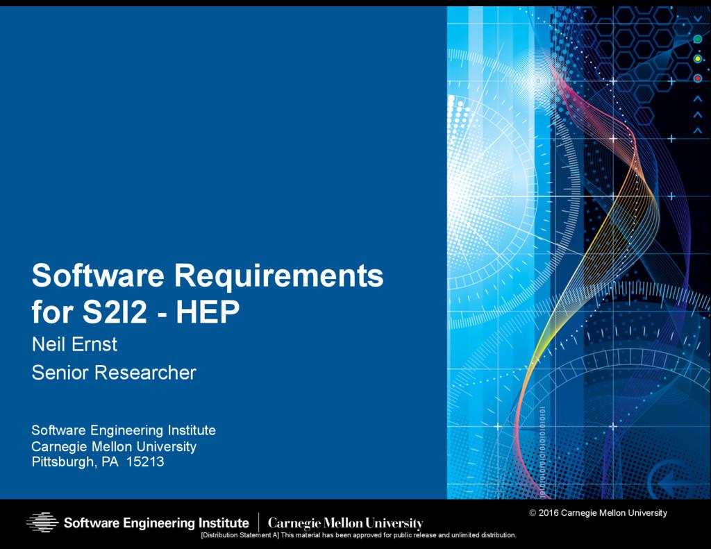 © 2016 Carnegie Mellon University Software Engi...