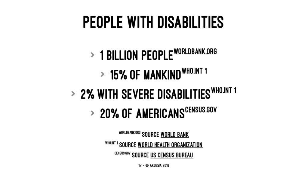PEOPLE WITH DISABILITIES > 1 billion peopleworl...