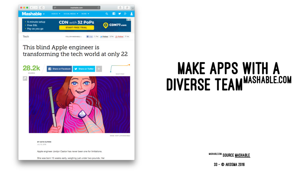 MAKE APPS WITH A DIVERSE TEAMMASHABLE.COM masha...