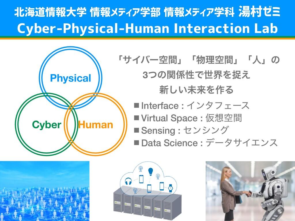 Physical Cyber Human ʮαΠόʔۭؒʯʮཧۭؒʯʮਓʯͷ 3ͭͷؔੑͰ...