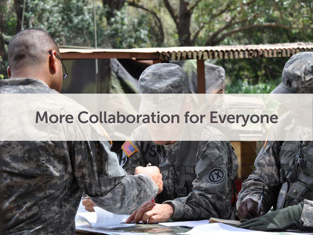 More Collaboration for Everyone