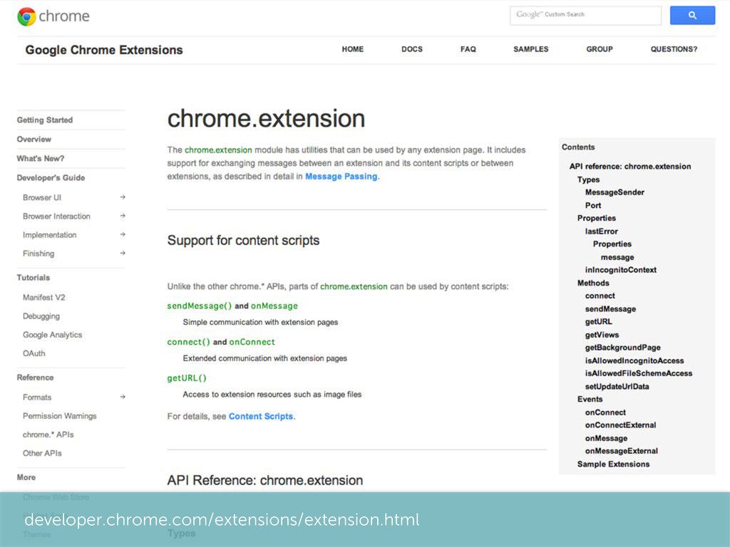 developer.chrome.com/extensions/extension.html
