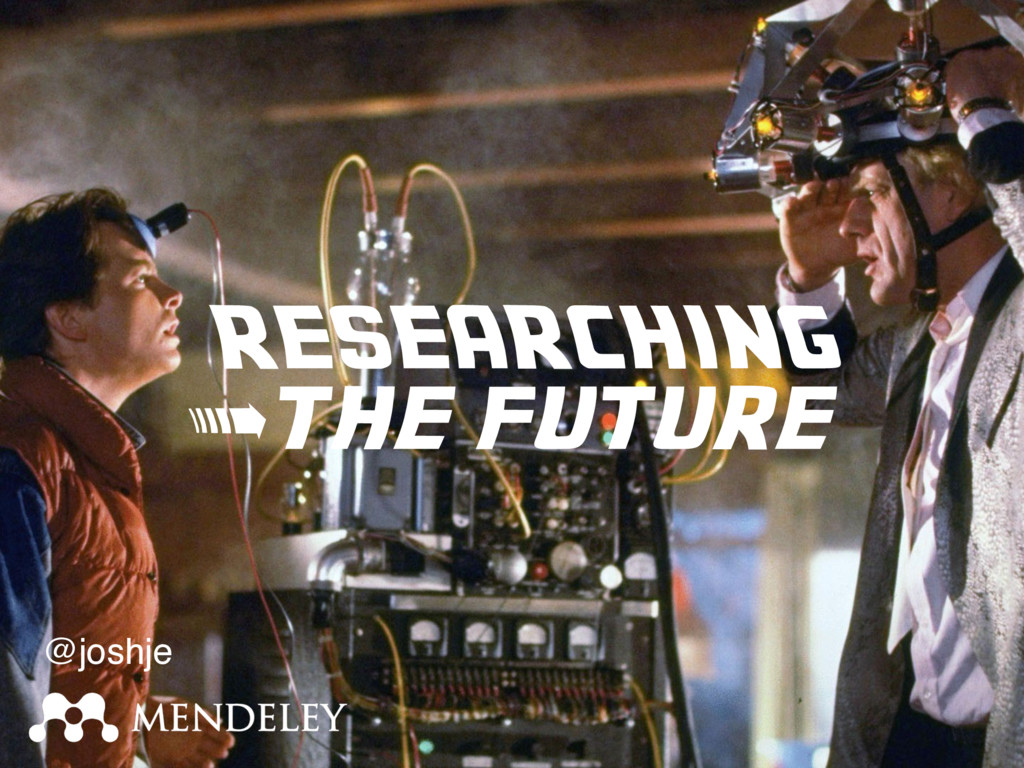 RESEARCHING > the future @joshje