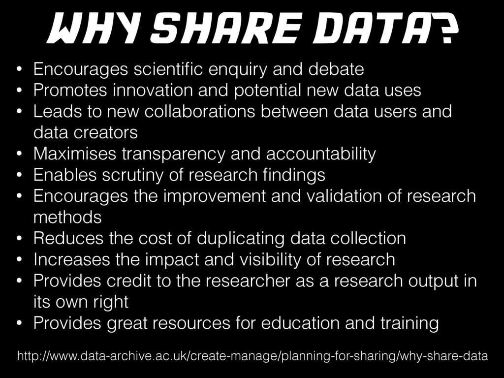 • Encourages scientific enquiry and debate • Pro...