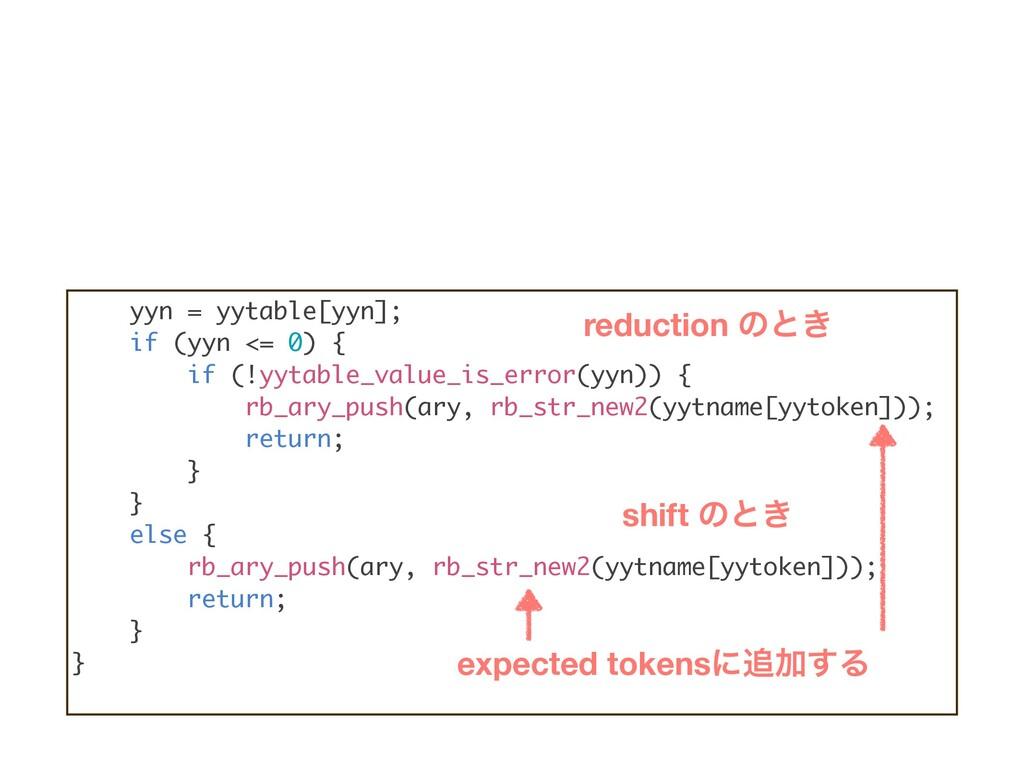 yyn = yytable[yyn]; if (yyn <= 0) { if (!yytabl...