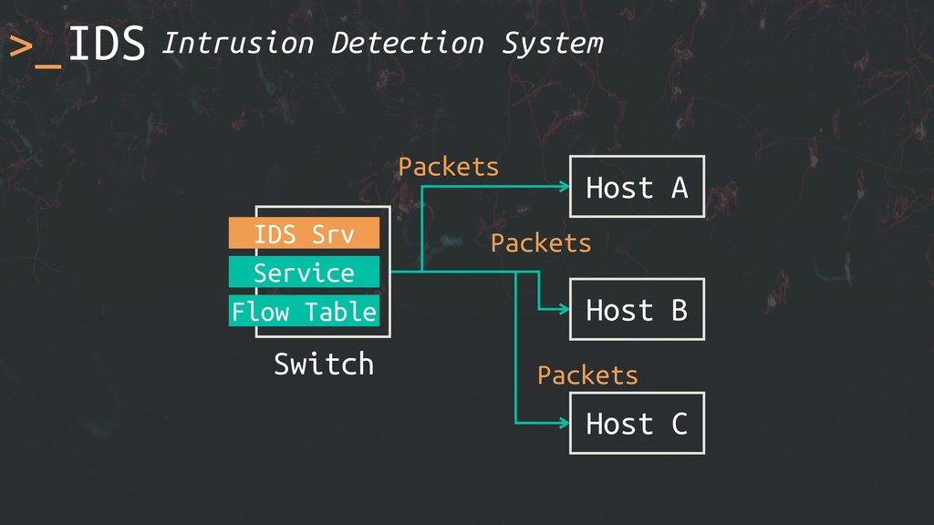 >_IDS Host A Switch Service Flow Table Host B H...