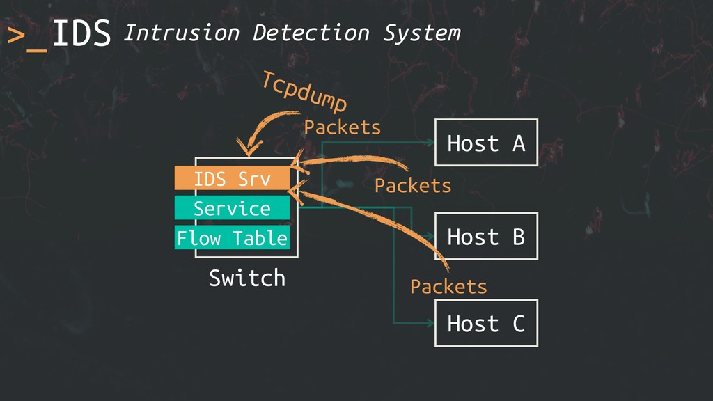 >_ Host A Switch Service Flow Table Host B Host...