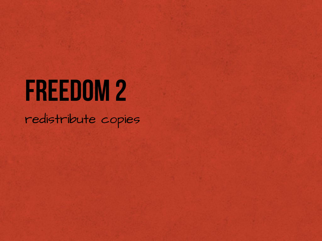 Freedom 2 redistribute copies
