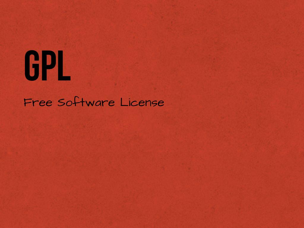 GPL Free Software License