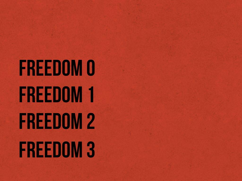 Freedom 0 Freedom 1 Freedom 2 Freedom 3