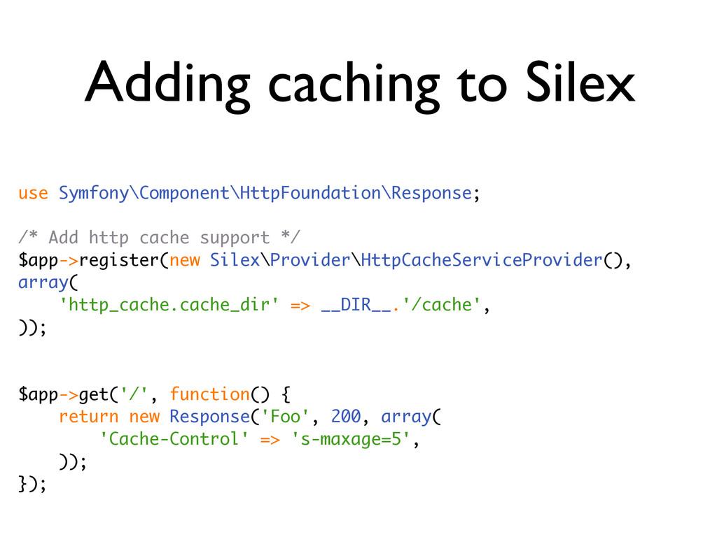 Adding caching to Silex use Symfony\Component\H...