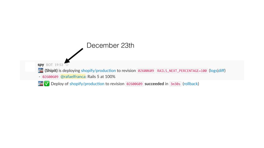 December 23th