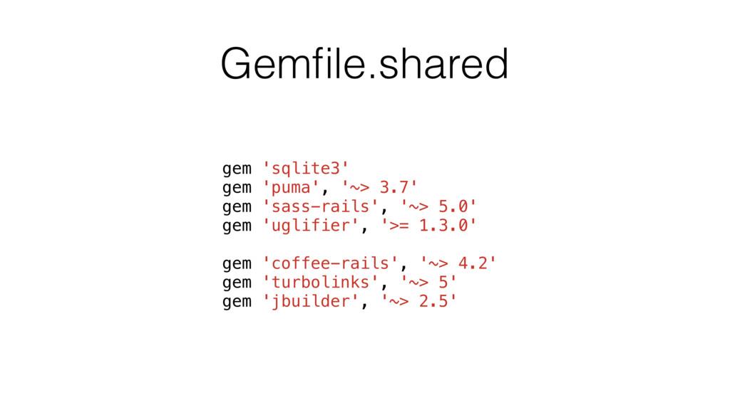 Gemfile.shared gem 'sqlite3' gem 'puma', '~> 3.7...