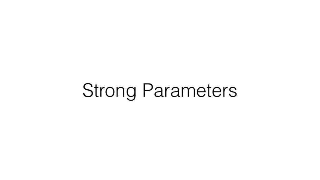 Strong Parameters