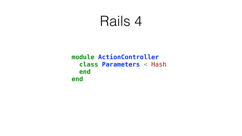 Rails 4 module ActionController class Parameter...