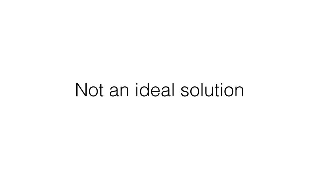 Not an ideal solution