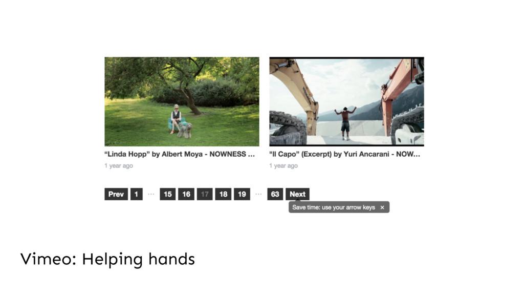 Vimeo: Helping hands
