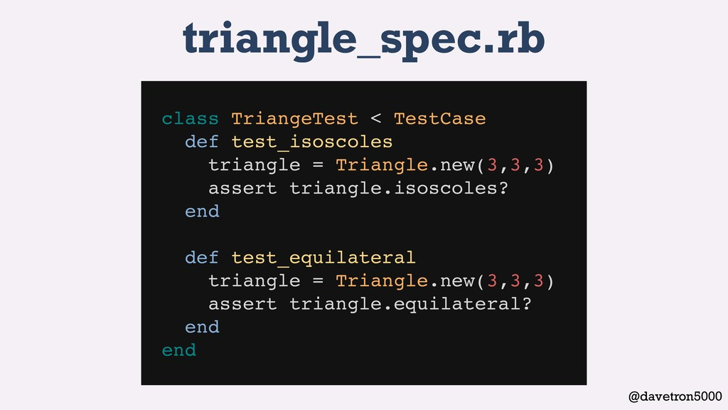 @davetron5000 triangle_spec.rb class TriangeTes...