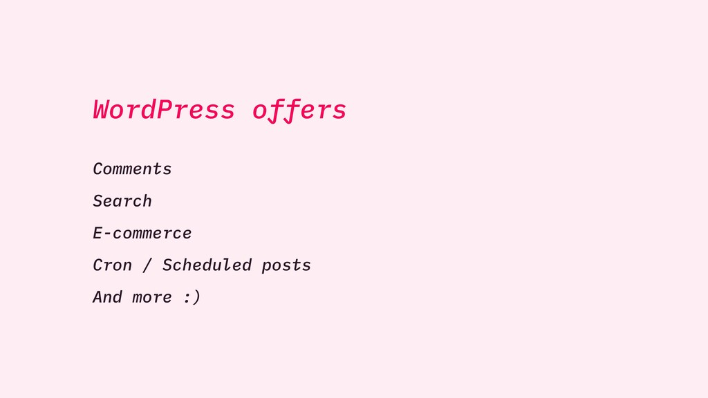 WordPress offers Comments Search E-commerce Cro...