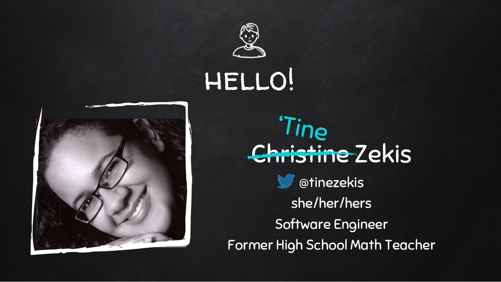 hello! Christine Zekis @tinezekis she/her/hers ...