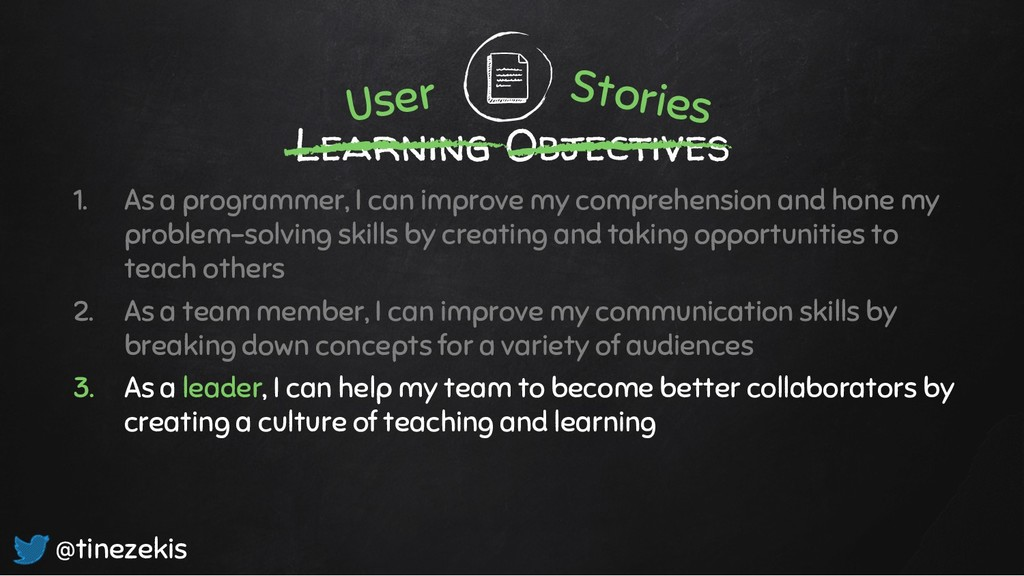 Learning Objectives 1. As a programmer, I can i...