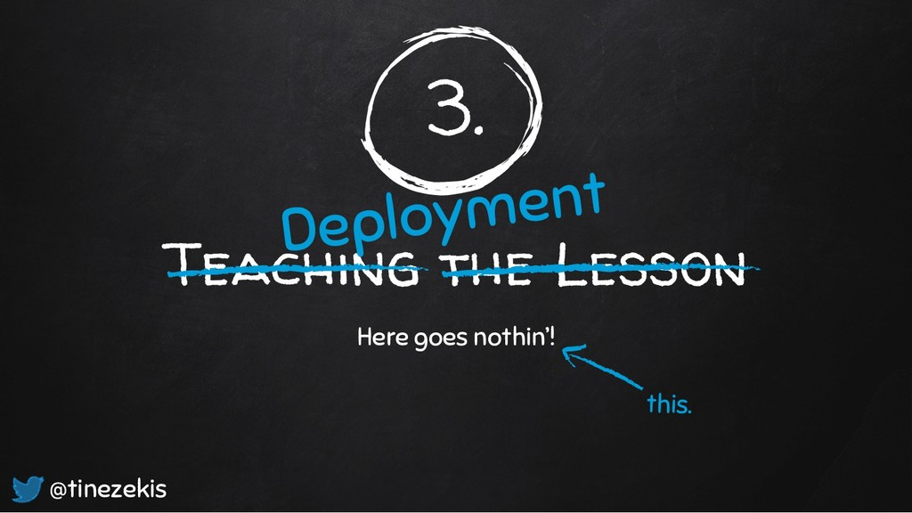 3. Teaching the Lesson Here goes nothin'! Deplo...