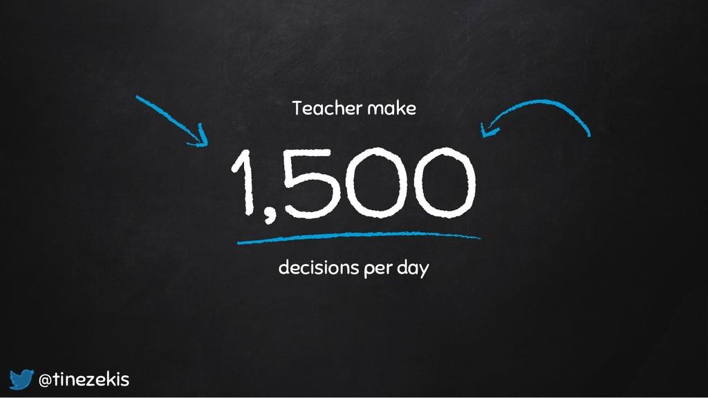 1,500 decisions per day @tinezekis Teacher make