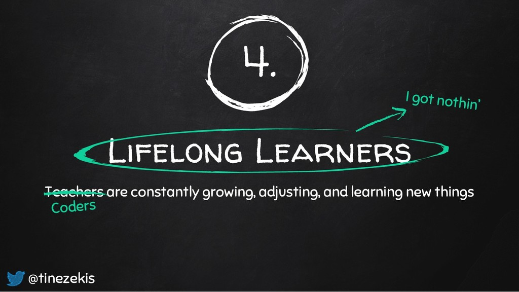 4. Lifelong Learners Teachers are constantly gr...