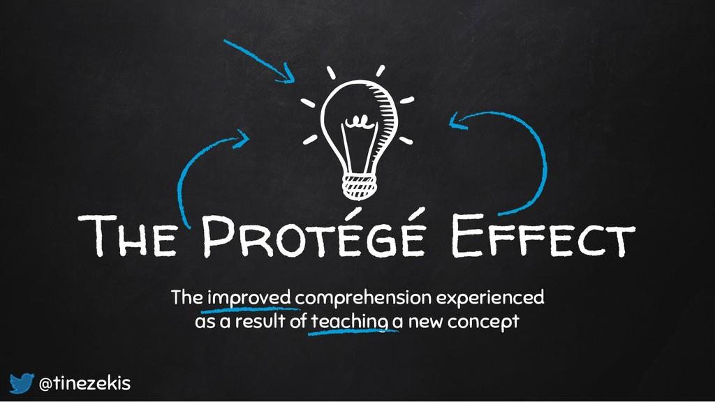 The Protégé Effect The improved comprehension e...